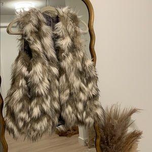 Free People reversible faux fur vest